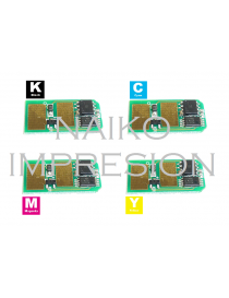 Chips compatibles Oki C310/ C330/ C331/ C510/ C511/ C530/ C531/ MC351 MC352 MC361 MC362 MC561 MC562. 1 chip de cada color CMYK