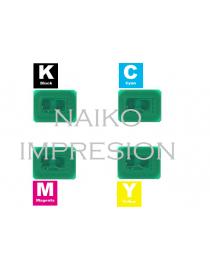 Chips compatibles Oki C610. 1 chip de cada color CMYK