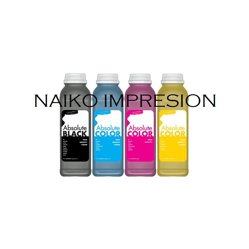Recargas tóner Oki C712. 1 botella de cada color CMYK