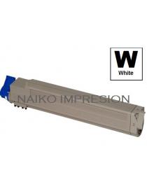 Tóner compatible Oki C920WT Blanco