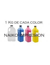 Recargas tóner Oki C920WT. 1 botella de cada color CMYK