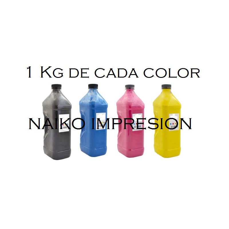 Recargas tóner Intec CP2020/ XP2020. 1 botella de cada color CMYK