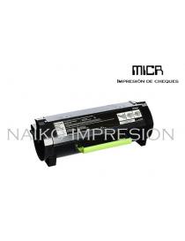 Tóner MICR compatibe con Lexmark MX310/ MX410/ MX510/ MX511/ MX611