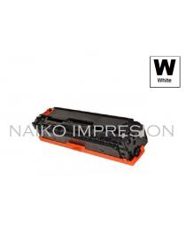 Tóner compatible con Hewlett Packard Color Laserjet CP1215/ CP1515/ CP1518/ CM1312  Blanco