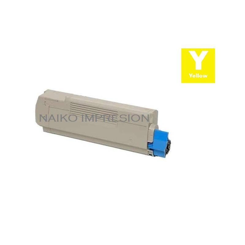 Tóner compatible Oki Executive ES6412 Amarillo