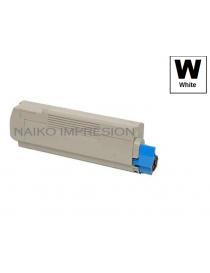 Tóner compatible Oki C610 Blanco
