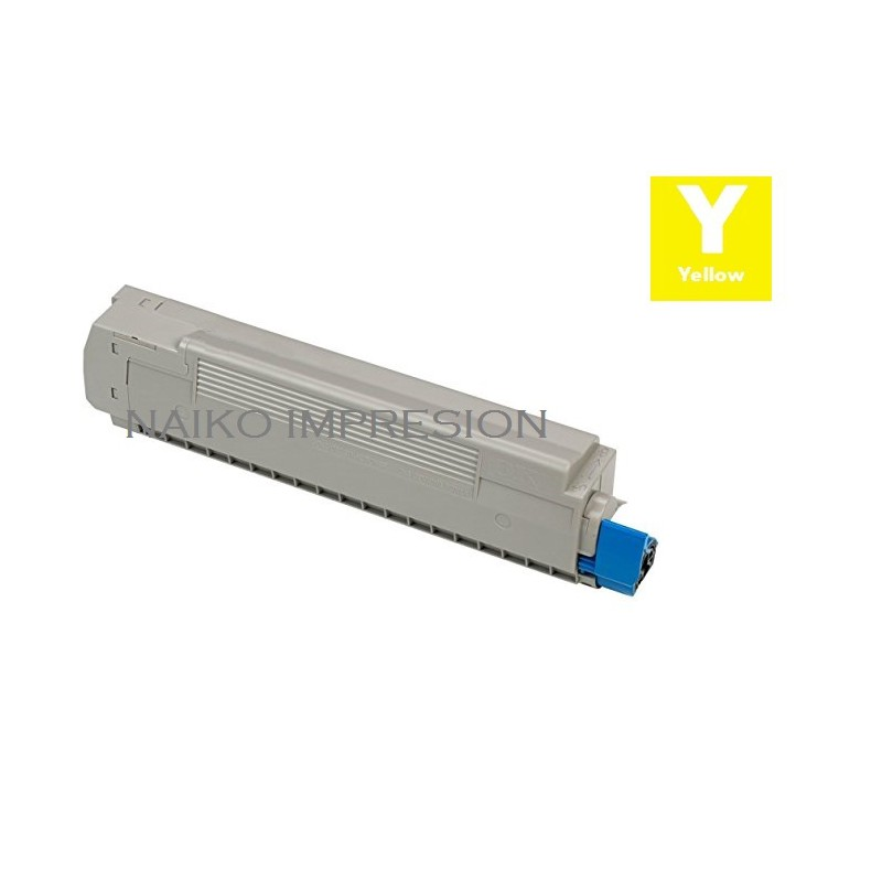 Tóner compatible Oki MC873 Amarillo