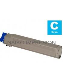 Tóner compatible Oki C9655 Cyan
