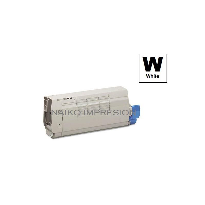 Tóner compatible C711WT Blanco