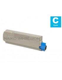 Tóner compatible Oki C612 Cyan