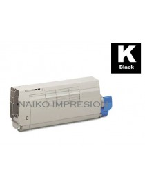 Tóner compatible Oki C712 Negro