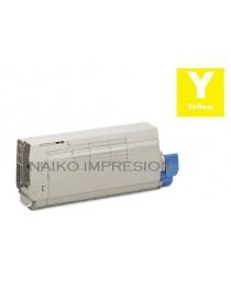 Tóner compatible Oki C712 Amarillo